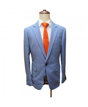 Bobo's By Bennetti Blazer - Checked Sky Blue
