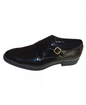 BERLUSCONI BLACK WET LOOK SHOE