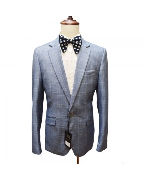Bobo's By Bennetti Blazer - Checked Blue